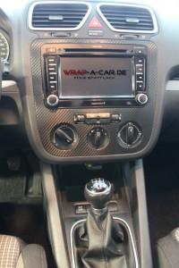 Karbon schwarz im VW Inneraum