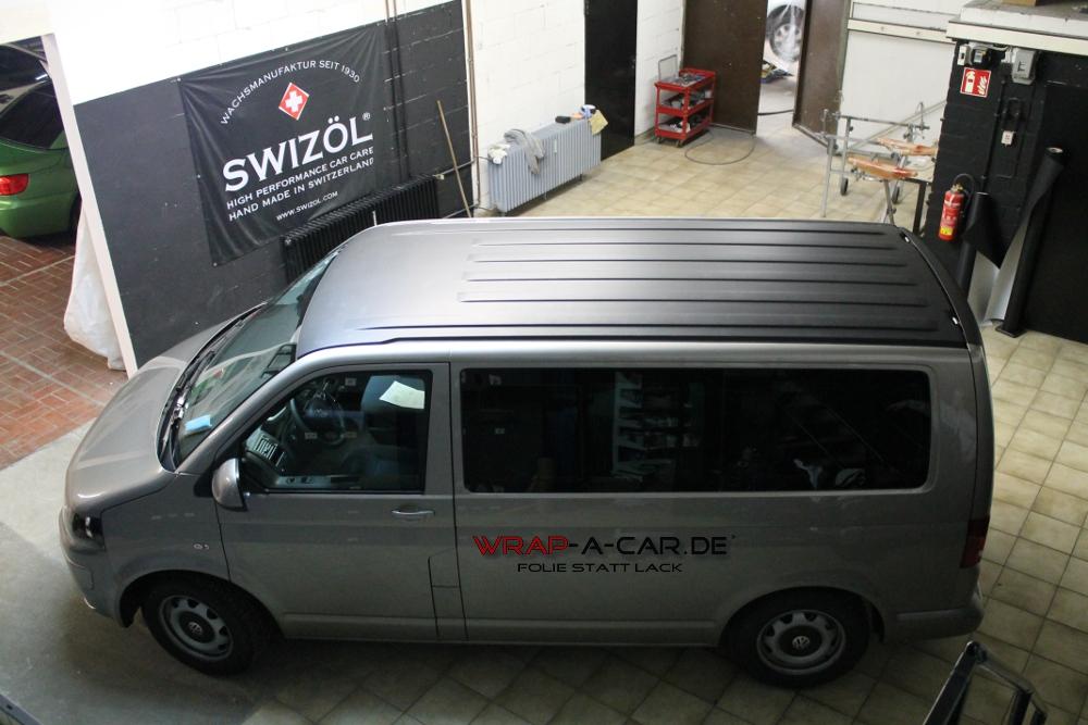 Vw T5 Teilfolierung Dach In Schwarz Matt Foliert Von