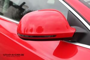 Spiegelkappen Folierung Audi