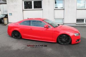 Audi S 5 Folierung in rot