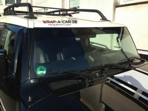 Sonnenkeil am SUV