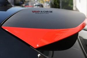 BMW Teilfolierung in rot glänzend